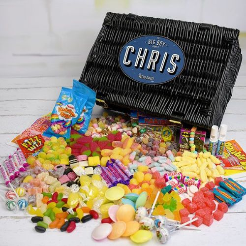 Personalised Fathers Day Retro Sweet Hamper